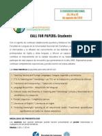 """Call for Papers Alumnos - II Congreso Nacional """"El conocimiento como espacio de encuentro"""" Facultad de Lenguas - UNCo"""