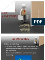 Ethical Issues in Marketing and Advertising