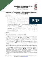 Manual Disciplina Isolada 2012_1
