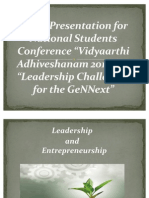 Leadership and Entrepreneurship Final