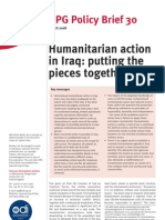 Humanitarian Action in Iraq - Putting the Pieces Together