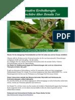 Alternative Krebstherapie Infobroschüre über Benalu Tee
