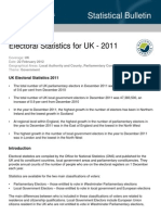 Electoral Statistics for the UK - 2011