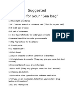 SEA Bag Items