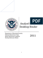 DHS social media analyst instructions