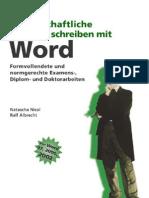 Wissenschaftliche Arbeiten Schreiben Mit Word
