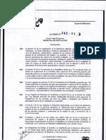 ACUERDO MINISTERIAL Nº382-11