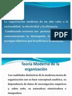 Teoría Moderna de la Organización