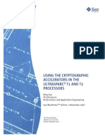 Using the Cryptographic Accelerators in the UltraSPAR CT1 and UltraSPARC T2 Processors