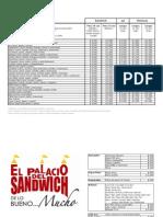 Menu Palacio Del Sandwich Junio 2010