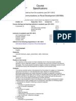 Scientific Communications on Rural Development