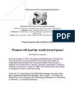 Nobel and Women Prize Recipients