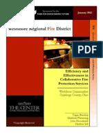 Jan 2102 Westshore Regional Fire District