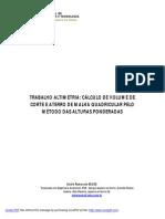Topografia Calculo Volumes Corte e Aterro