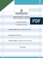 ACTIVIDAD 1 DE COMPRENSION (MÓDULO TECNOLOGÍA EDUCATIVA PARA LA GESTIÓN)