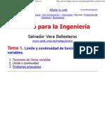 Salvador Vera - Cálculo para la Ingeniería - Tema 1.2