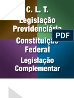 CLT - Legislação Previdenciária - Legislação Complementar - Constituição Federal