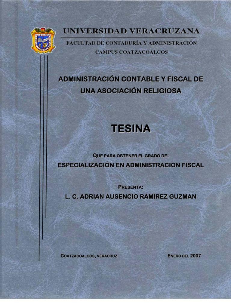 Administración Contable y Fiscal de una Asociación Religiosa
