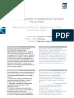 Medicina Regenerativa Regeneracin Del Disco Inter Vertebral.