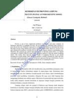 ANALISIS KEMISKINAN DI PROVINSI LAMPUNG DENGAN PENDEKATAN SPATIAL AUTOREGRESSIVE MODEL (Linear Contiguity Method)