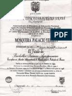 Diploma de Bachiller Yeisson
