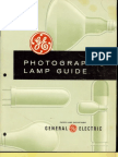 GE Photographic Lamp Guide 1965