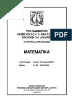 Soal Tes Diagnostik Guru SD Matematika