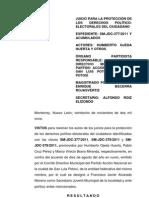Expediente SM-JDC-0377-2011 TEPJF Ordena Convocar Asamblea