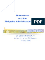 PUBLiCUS-JS-NCPAG-Governance and the Philippine Administrative System