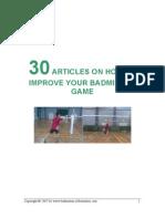 Badminton Articles