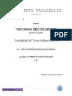 Ensayo Veronika decide morir TL&R