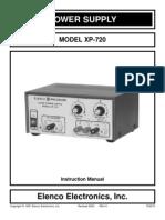 Regulador Elenco Xp 720 Manual