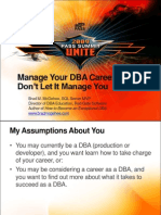 Manage Your DBA Career--Dont Let It Manage You