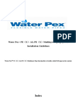 Water Pex Installation Guidelines