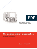 Decision Driven Organization