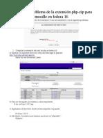 extension Php Zip  Fedora16
