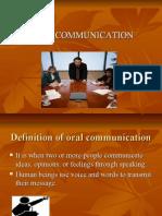 Oral Communication Presentation