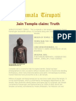 Tirupati a Jain Temple Truth