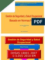 Gestion de Seguridad y Salud Ocupacional Basado en Normas Nacionale