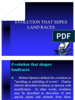 Lec4 Evolutionary Forces That Shapes Land Races