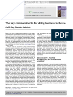 The key commandments for doing business in Russia