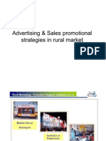 Advertising Sales Promotional Strategies in Rural Market