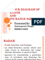 Block Diagram of Radar and Its Range Equation