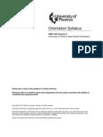 UNIV100 0.02 Orientation Syllabus
