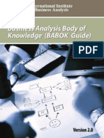 A Guide to the Business Analysis Body of Knowledge (Babok Guide) - Iba