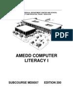 US Army Medical Course MD0057-200 - Amedd Computer Literacy I