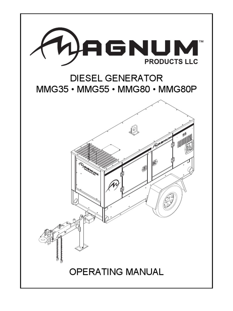 Magnum Diesel Generator Operating Manual Mmg 35-55-80-80p