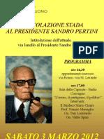 Intitolazione via Sandro Pertini