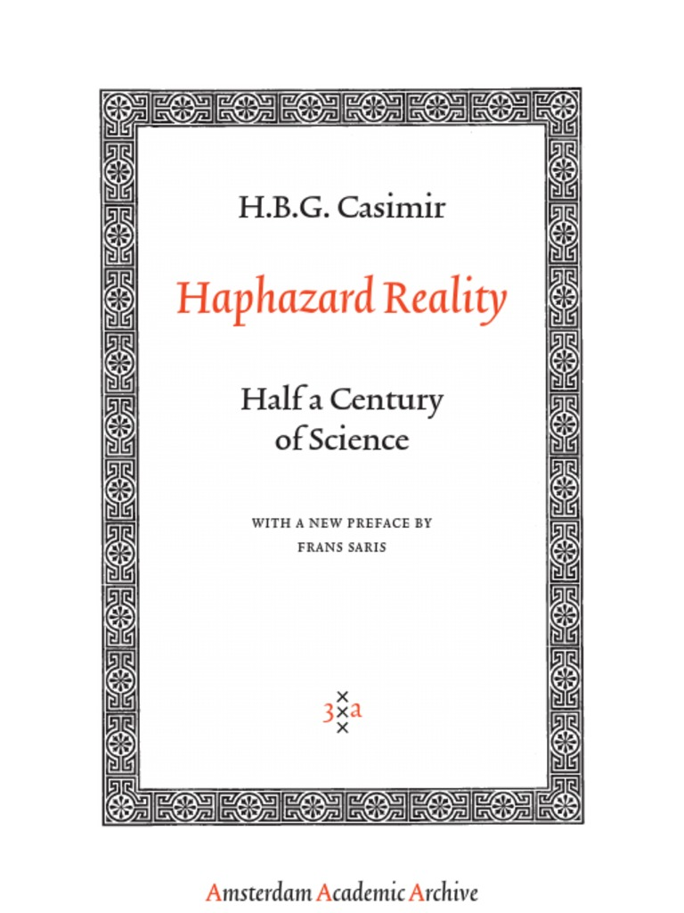 What idea did hardy and weinberg disprove - Casimir Haphazard Reality Half A Century Of Science With A New Preface By Frans Saris Niels Bohr Teachers