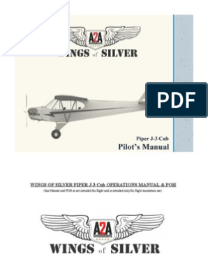 A2A Piper J3 Pilots Manual | North American P 51 Mustang